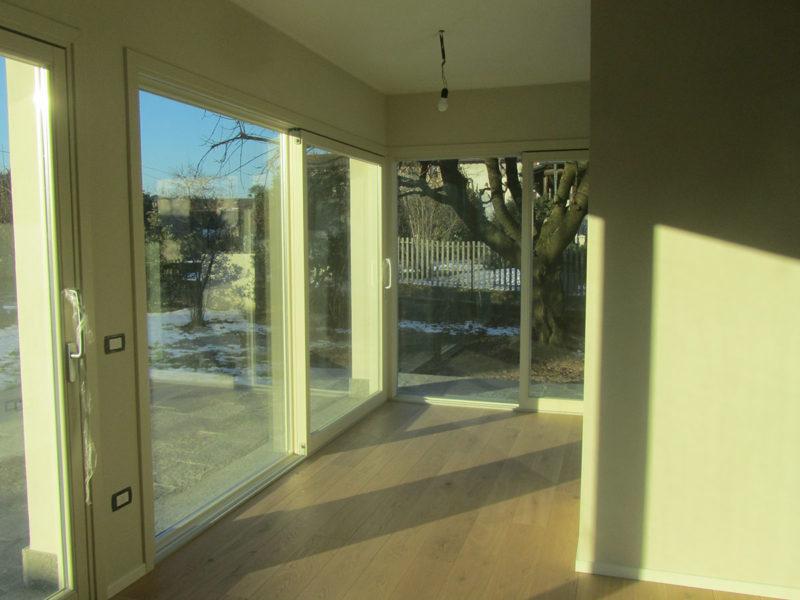 ristrutturazione - vetrata soggiorno